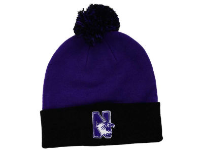 Northwestern Wildcats Top of the World NCAA 2 Tone Pom Knit
