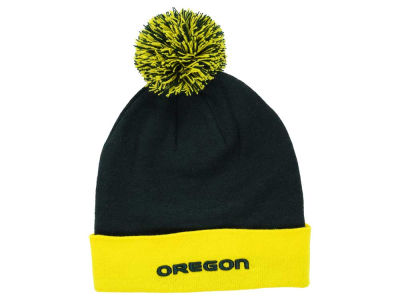 Oregon Ducks Top of the World NCAA 2 Tone Pom Knit
