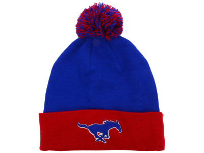 Southern Methodist Mustangs Top of the World NCAA 2 Tone Pom Knit