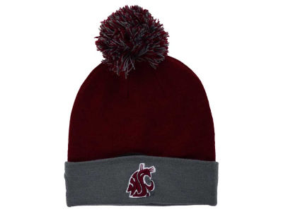 Washington State Cougars Top of the World NCAA 2 Tone Pom Knit