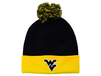 West Virginia Mountaineers Top of the World NCAA 2 Tone Pom Knit
