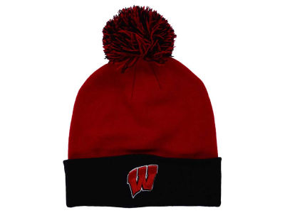 Wisconsin Badgers Top of the World NCAA 2 Tone Pom Knit