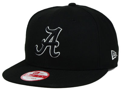 Alabama Crimson Tide New Era NCAA Black White Fashion 9FIFTY Snapback Cap