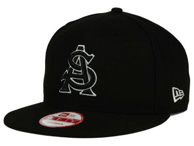 Arizona State Sun Devils New Era NCAA Black White Fashion 9FIFTY Snapback Cap