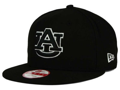 Auburn Tigers New Era NCAA Black White Fashion 9FIFTY Snapback Cap