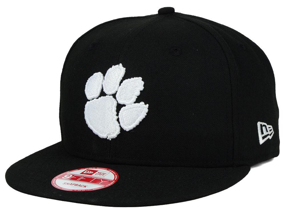 05866d5993b Clemson Tigers New Era NCAA Black White Fashion 9FIFTY Snapback Cap