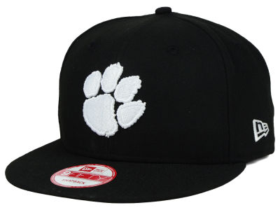 Clemson Tigers New Era NCAA Black White Fashion 9FIFTY Snapback Cap