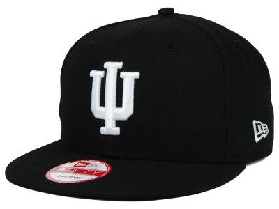 super popular a6bbd 195e2 Indiana Hoosiers New Era NCAA Black White Fashion 9FIFTY Snapback Cap
