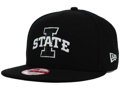 Iowa State Cyclones New Era NCAA Black White Fashion 9FIFTY Snapback Cap