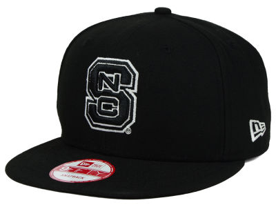 North Carolina State Wolfpack New Era NCAA Black White Fashion 9FIFTY Snapback Cap