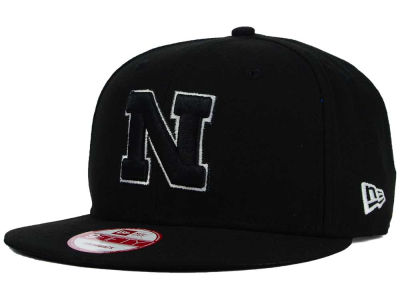 Nebraska Cornhuskers New Era NCAA Black White Fashion 9FIFTY Snapback Cap