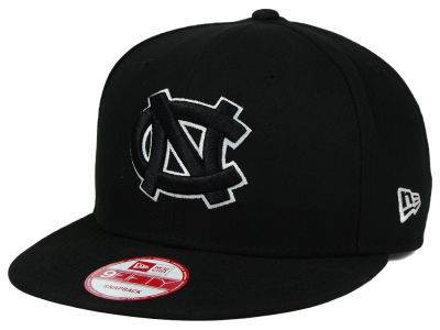 North Carolina Tar Heels New Era NCAA Black White Fashion 9FIFTY Snapback Cap