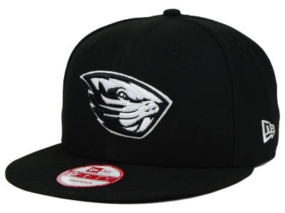 Oregon State Beavers New Era NCAA Black White Fashion 9FIFTY Snapback Cap