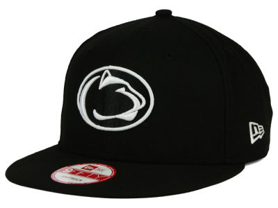 Penn State Nittany Lions New Era NCAA Black White Fashion 9FIFTY Snapback Cap