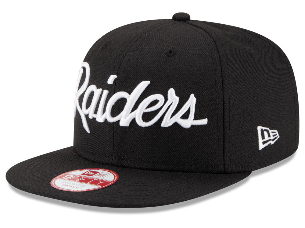 ce1b7303909 Oakland Raiders New Era NFL Retro Script 9FIFTY Snapback Cap