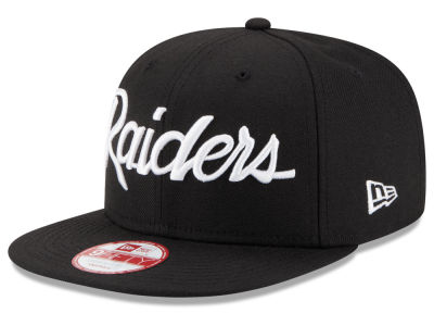 Oakland Raiders New Era NFL Retro Script 9FIFTY Snapback Cap