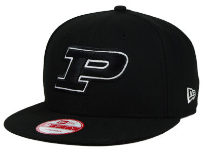 Purdue Boilermakers New Era NCAA Black White Fashion 9FIFTY Snapback Cap