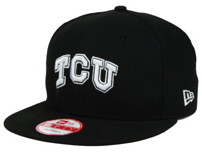 Texas Christian Horned Frogs New Era NCAA Black White Fashion 9FIFTY Snapback Cap