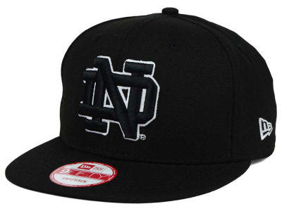 Notre Dame Fighting Irish New Era NCAA Black White Fashion 9FIFTY Snapback Cap