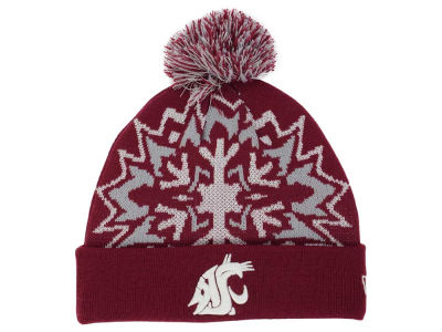 Washington State Cougars New Era NCAA Glowflake 2.0 Knit