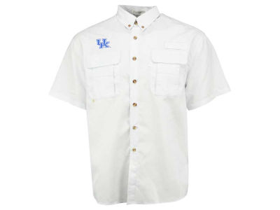 Kentucky Wildcats NCAA Men's FishWare Short Sleeve Fishing Button Up Shirt