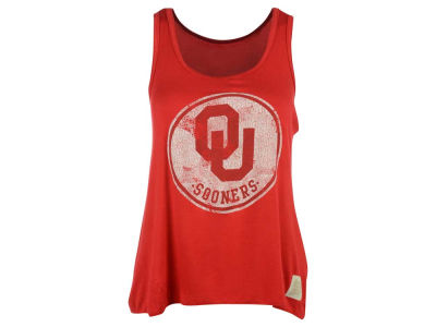 Oklahoma Sooners Retro Brand NCAA Women's Retro Ruched Back Tank