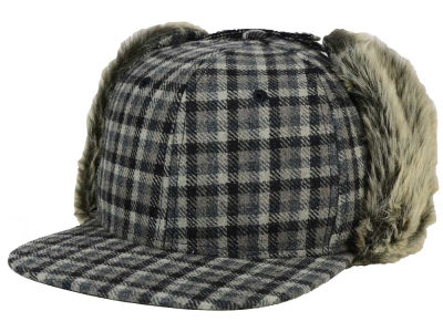 LIDS Private Label Mini Check Earflap Snapback Hat
