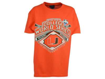 Miami Hurricanes NCAA Youth College World Series Diamond Team T-Shirt