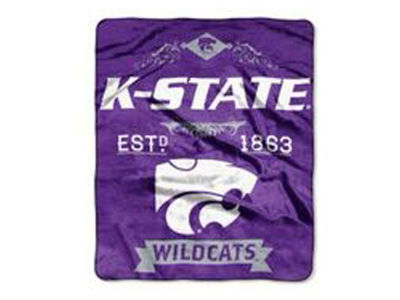 Kansas State Wildcats 50x60in Plush Throw Blanket