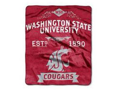 Washington State Cougars 50x60in Plush Throw Blanket