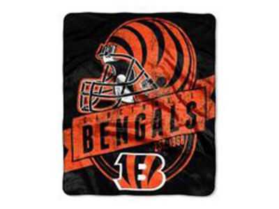 "Cincinnati Bengals 50x60in Plush Throw Blanket ""Grand Stand"""