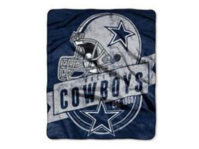 "Dallas Cowboys 50x60in Plush Throw Blanket ""Grand Stand"""