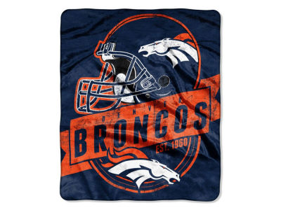 "Denver Broncos 50x60in Plush Throw Blanket ""Grand Stand"""