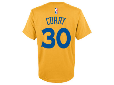 Golden State Warriors Stephen Curry NBA Kids Name And Number T-Shirt