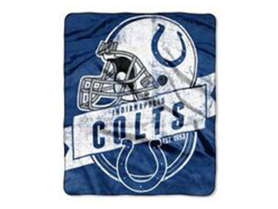 "Indianapolis Colts 50x60in Plush Throw Blanket ""Grand Stand"""