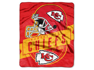 "Kansas City Chiefs 50x60in Plush Throw Blanket ""Grand Stand"""