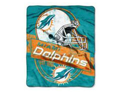 "Miami Dolphins 50x60in Plush Throw Blanket ""Grand Stand"""