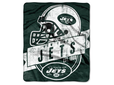"New York Jets 50x60in Plush Throw Blanket ""Grand Stand"""
