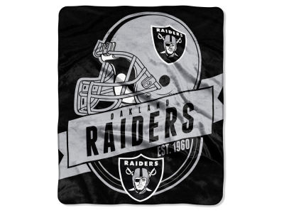 "Oakland Raiders 50x60in Plush Throw Blanket ""Grand Stand"""