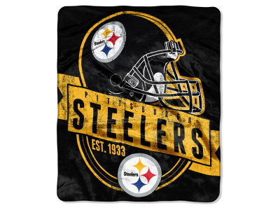 "Pittsburgh Steelers 50x60in Plush Throw Blanket ""Grand Stand"""