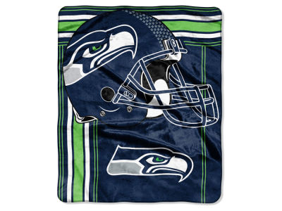 "Seattle Seahawks 50x60in Plush Throw Blanket ""Grand Stand"""
