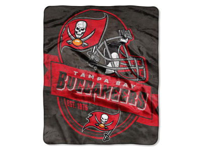 "Tampa Bay Buccaneers 50x60in Plush Throw Blanket ""Grand Stand"""