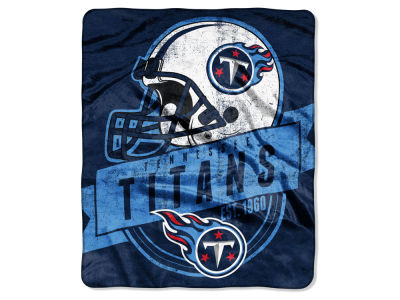 "Tennessee Titans 50x60in Plush Throw Blanket ""Grand Stand"""