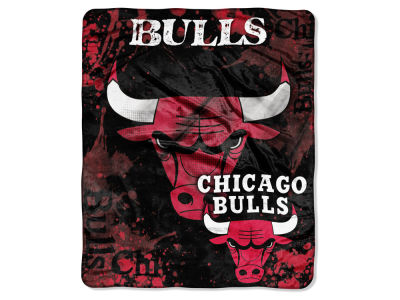 Chicago Bulls 50x60in Plush Throw Drop Down