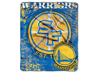 Golden State Warriors 50x60in Plush Throw Drop Down