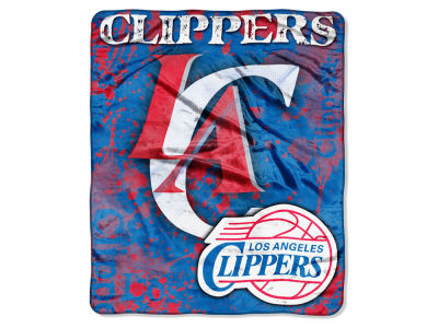 Los Angeles Clippers 50x60in Plush Throw Drop Down
