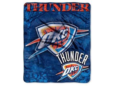 Oklahoma City Thunder 50x60in Plush Throw Drop Down