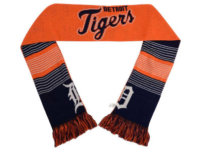 Detroit Tigers Acrylic Knit Scarf Reversible Split Logo