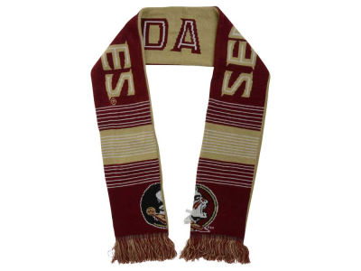 "Florida State Seminoles ""New Logo"" Acrylic Knit Scarf Reversible Split Logo"