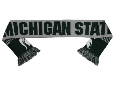 Michigan State Spartans Acrylic Knit Scarf Reversible Split Logo